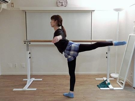 バレエ整体・アラベスクの改善例
